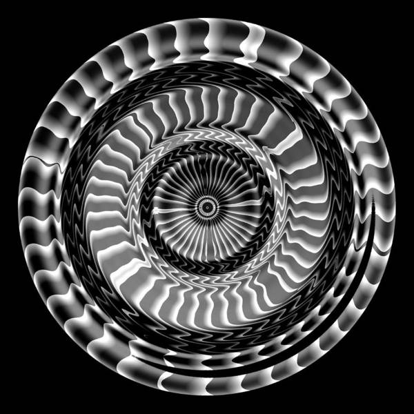 Digital Art - Night Wheel by Visual Artist Frank Bonilla