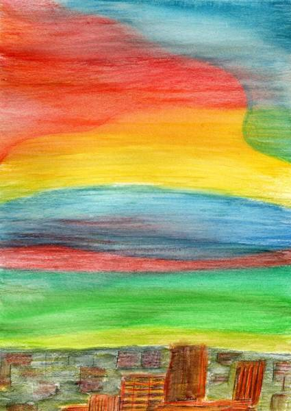 Painting - Nightfall by Lesa Weller