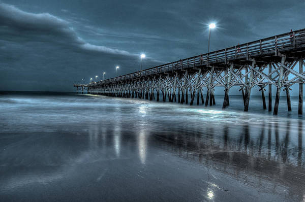 Photograph - Nighttime At The Pier by At Lands End Photography