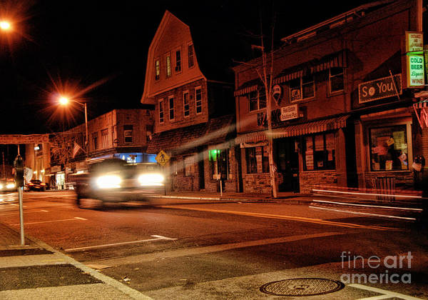 Rockville Photograph - Nighttime By The Vibe Lounge by Anne Ferguson