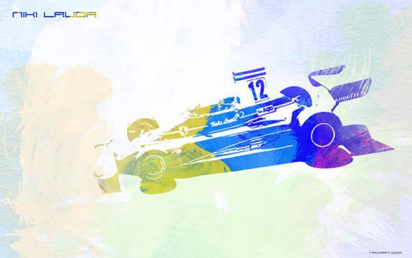 Wall Art - Painting - Niki Lauda by Naxart Studio