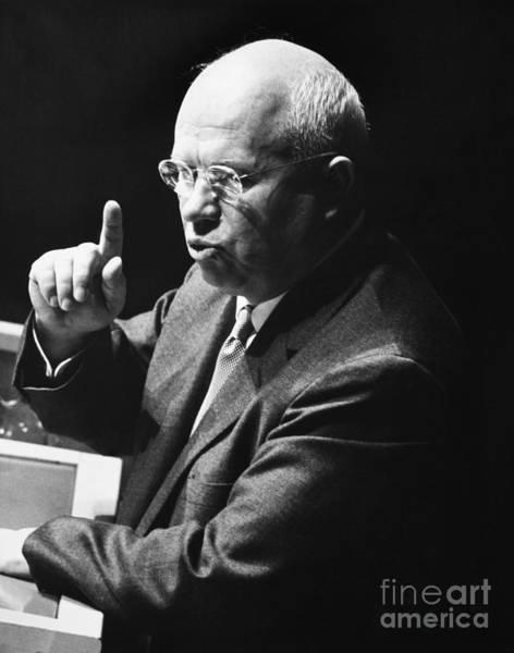 Photograph - Nikita Khrushchev by Granger