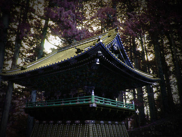 Pagoda Photograph - Nikko Architectural Detail by Naxart Studio