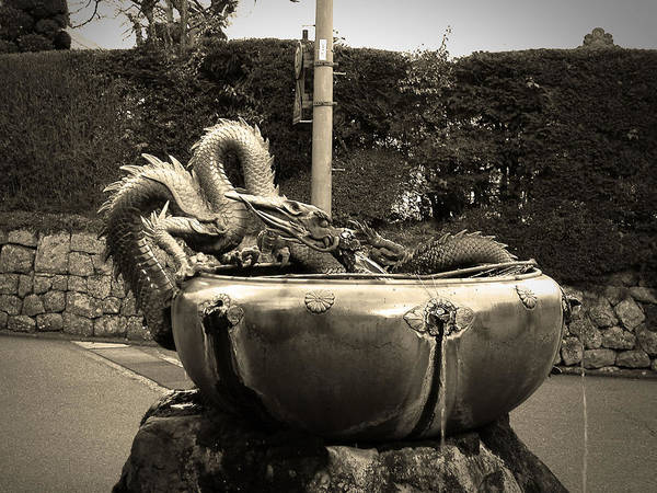 Wall Art - Photograph - Nikko Fountain by Naxart Studio