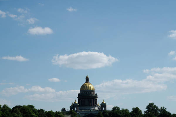 Photograph - Nimbus Over Saint Isaac's Cathedral by Michael Goyberg