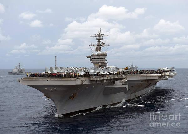Uss Carl Vinson Photograph - Nimitz Class Aircraft Carrier Uss Carl by Stocktrek Images