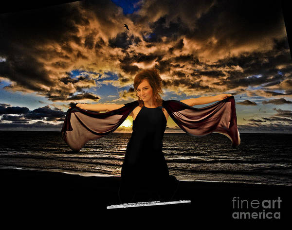 Photograph - Nina And Flute Morning On Ocean by Dan Friend