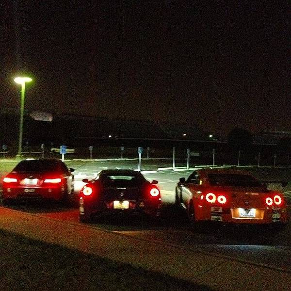 Bmw Photograph - #nissan #gtr With #ferrari #458 With by Jerome De S