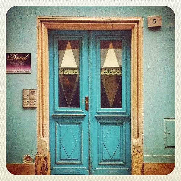 Wall Art - Photograph - no 5 #blue #door In #pula #croatia by Marianne Hope