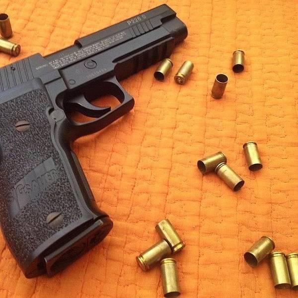 Guns Photograph - No Filters #gun #sig #sauer #9mm by Juan Ramos