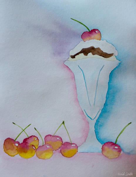 Sundae Wall Art - Painting - No Ordinary Cherry by Heidi Smith