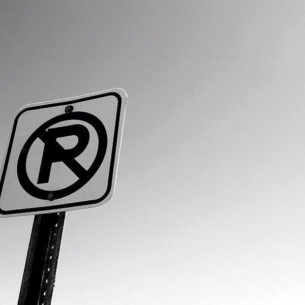 No Parking (black And White) Art Print