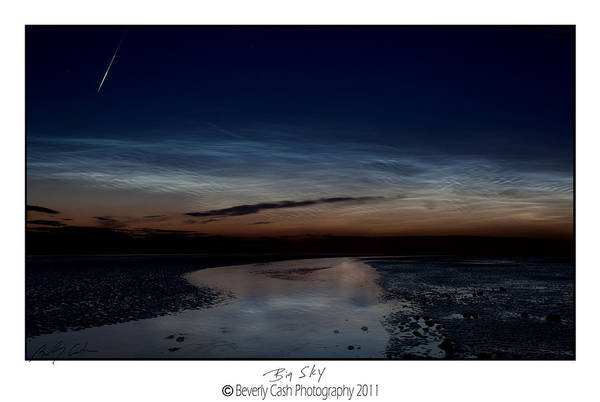 Photograph - Noctilucent Clouds And Shooting Star by Beverly Cash