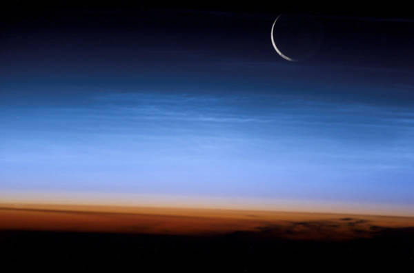Mesosphere Photograph - Noctilucent Clouds by Nasa