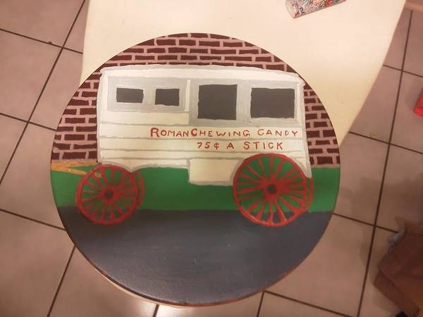 Clear Coat Wall Art - Painting - Nola Roman Candy Cart by Kevin Doyle
