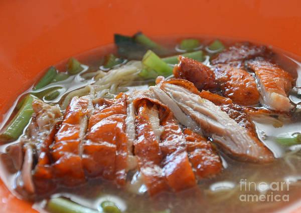 Duck Meat Photograph - Noodle by Rakratchada Torsap