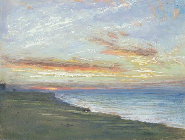 Norfolk Wall Art - Painting - Norfolk Coast by Albert Goodwin
