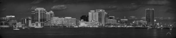 Norfolk Photograph - Norfolk Waterfront Bw by Williams-Cairns Photography LLC