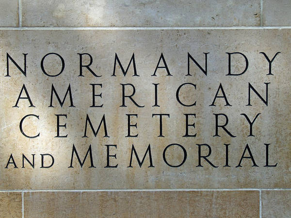 Normany Ww II American Cemetery And Memorial  Art Print