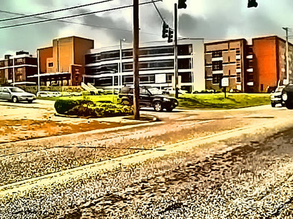 Digital Art - North Arkansas Regional Medical Center by Kathy Tarochione