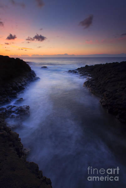 Queens Bath Photograph - North Shore Sunset by Mike  Dawson