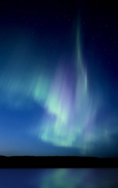 Wall Art - Digital Art - Northern Lights Over Canadian Lake by Mark Duffy