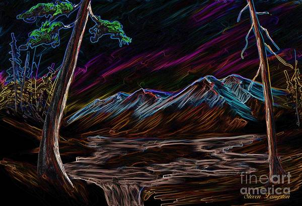 Wall Art - Painting - Northern Lights by Steven Lebron Langston