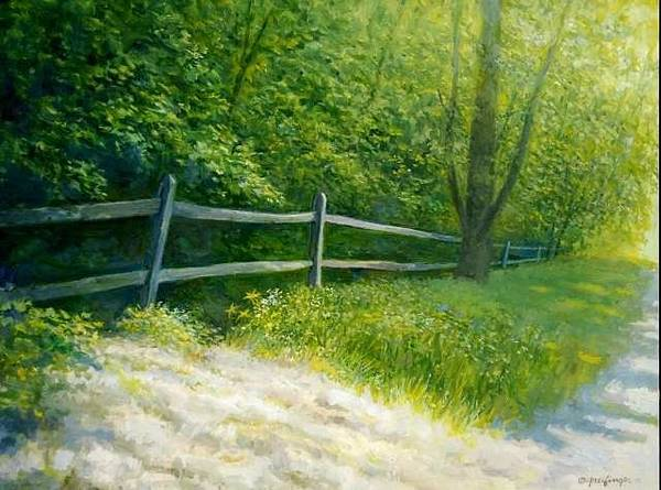 Painting - Northside Road by Mel Greifinger