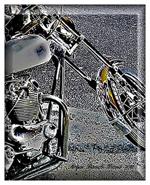 Photograph - Norton Bike by Danielle  Parent