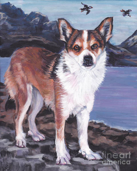 Norwegian Painting - Norwegian Lundehund by Lee Ann Shepard