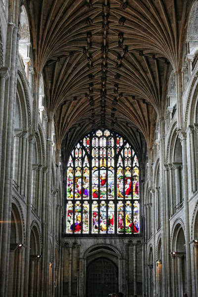Photograph - Norwich Cathedral Interior by Paul Cowan