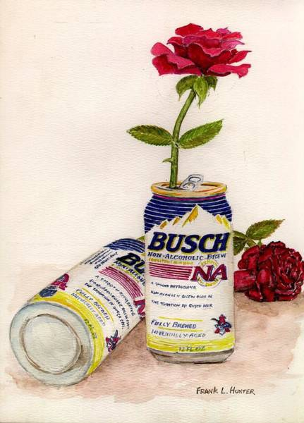 Painting - Not Beer And Roses by Frank Hunter