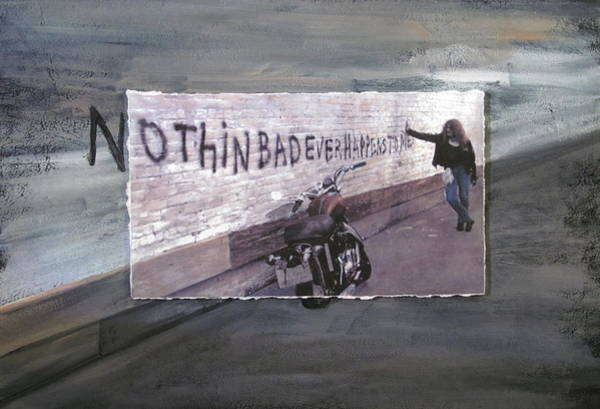 Mixed Media - Nothin Bad Ever Happens To Me by Anita Burgermeister