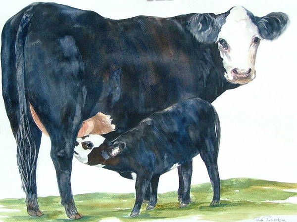 Painting - Nothing But Mother's Milk For My Baby by Paula Robertson