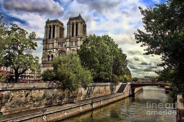 Photograph - Notre Dame On The Seine by Heather Applegate