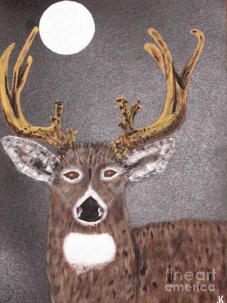 Black Buck Painting - November Moon by Jeffrey Koss