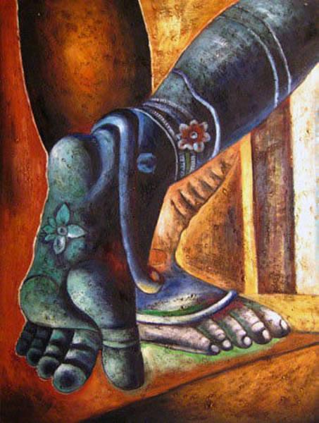 Laksmi Wall Art - Painting - Ns0226 by Streisand Art