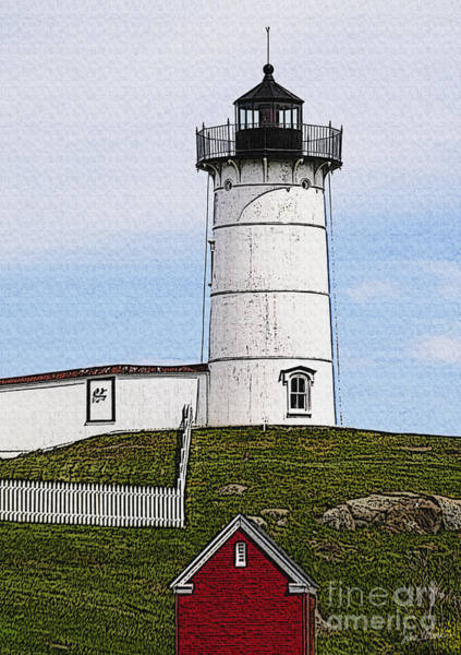 Wall Art - Photograph - Nubble Lighthouse- Canvas by Luke Moore