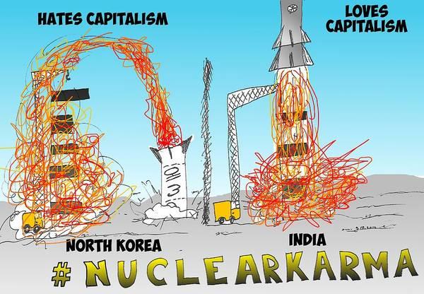 Capitalism Mixed Media - Nuclear Karma Binary Option by OptionsClick BlogArt