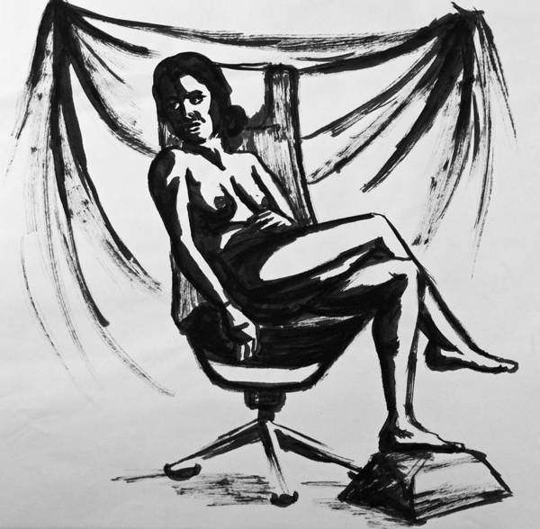 Coolidge Drawing - Nude 2 by Sara Coolidge