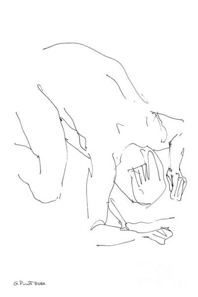Drawing - Nude-male-artwork-21 by Gordon Punt