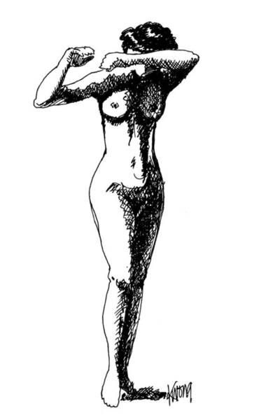 Nude Study 1 Art Print