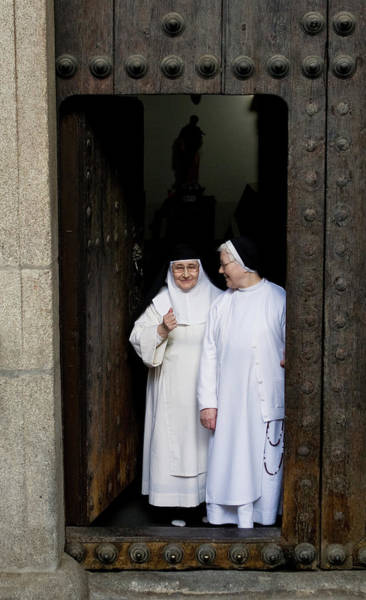 Photograph - Nuns Thumbs Up by Lorraine Devon Wilke