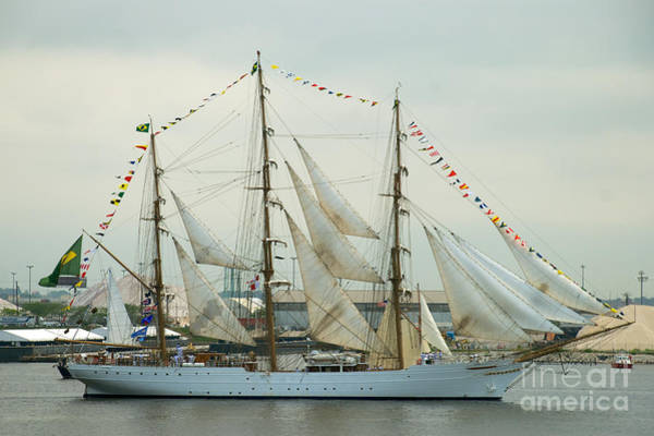 Photograph - Nve Cisne Branco Passing By Fort Mchenry by Mark Dodd