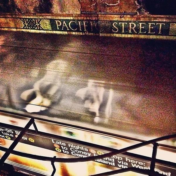 Retro Wall Art - Photograph - #ny #metro #subway #station #train by Joel Lopez