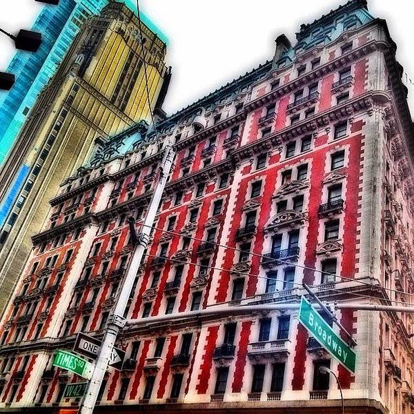 Skyline Wall Art - Photograph - #ny #newyorker #architecture #broadway by Joel Lopez