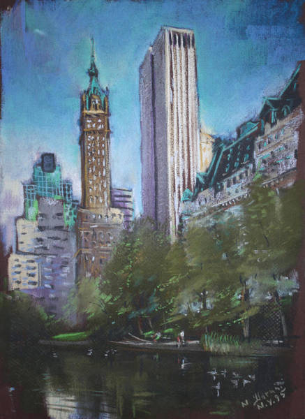 Wall Art - Pastel - Nyc Central Park 2 by Ylli Haruni