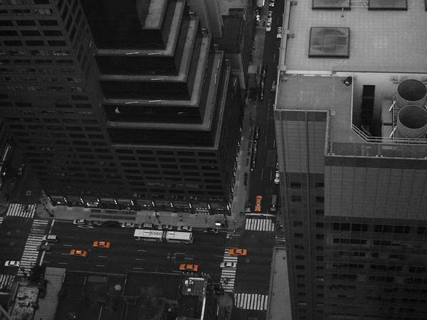 Yellow Taxi Photograph - Nyc From The Top 1 by Naxart Studio