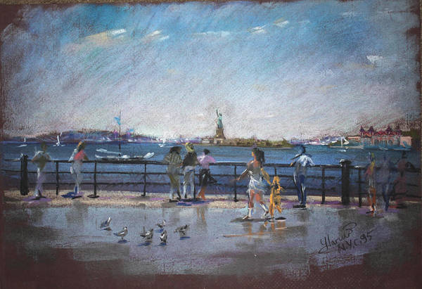 Wall Art - Pastel - Nyc Grand Ferry Park 2 by Ylli Haruni