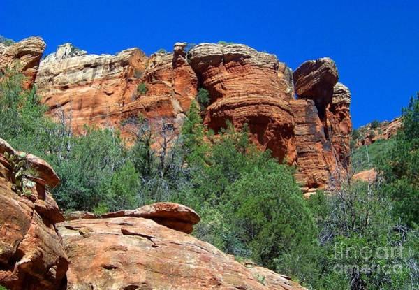 Oak Creek Canyon Balanced Rock Art Print
